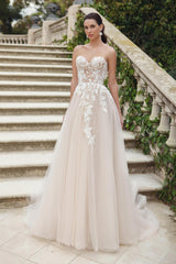 Beaded Lace and Tulle Wedding Gown