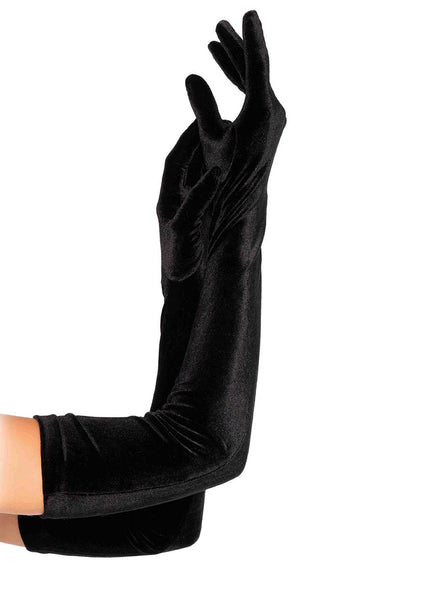 Velvet Stretch Opera Length Gloves