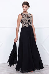 Embellished Bodice Long Formal Dress