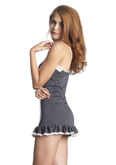 Jersey Nightie with Lace Trim