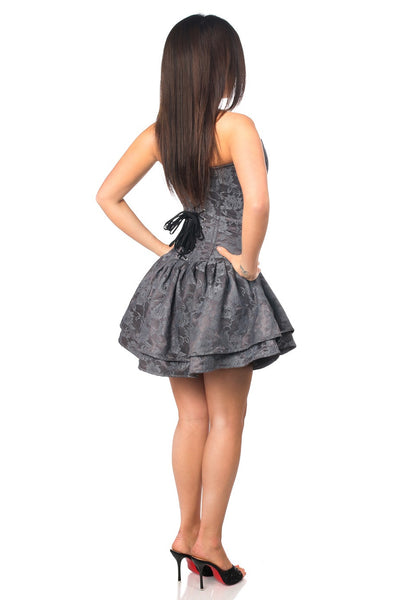 Lace Grey Corset Party Dress