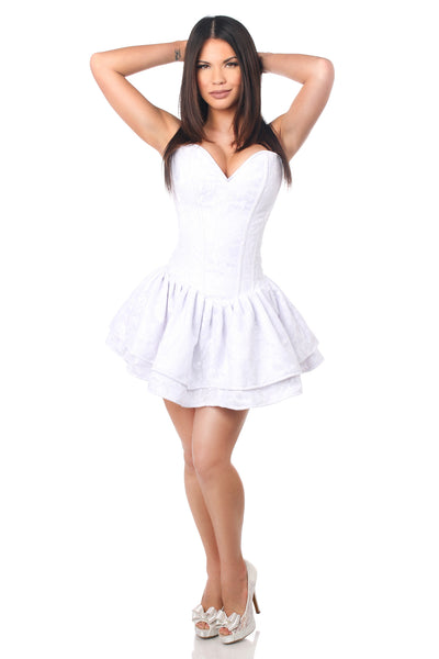 White Lace Corset Party Dress