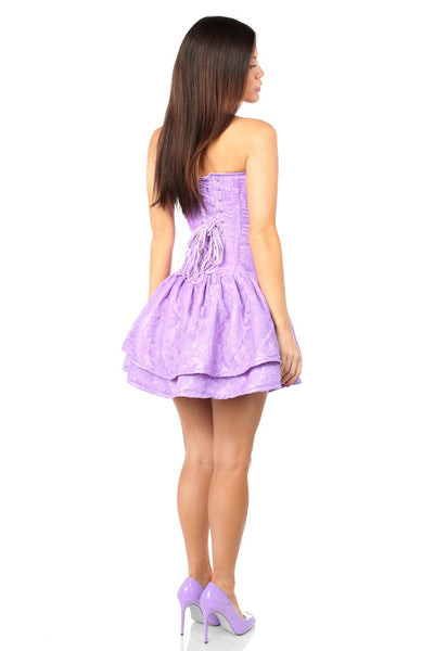 Lace Lilac Corset Party Dress