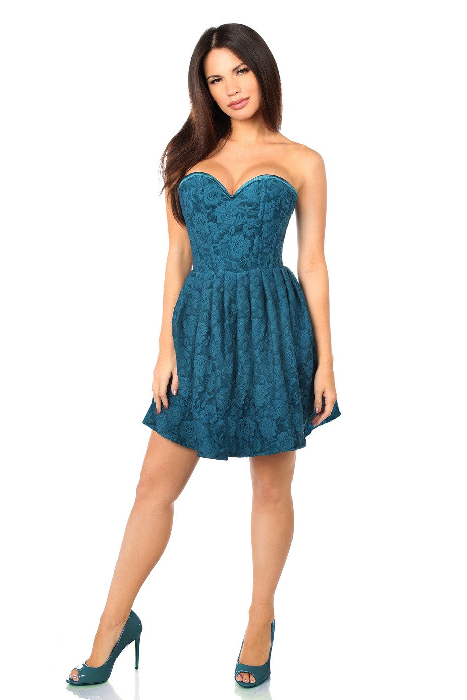 Myrtle Green Empire Corset Party Dress