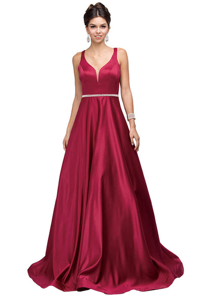 A-Line Long Formal Ball Dress