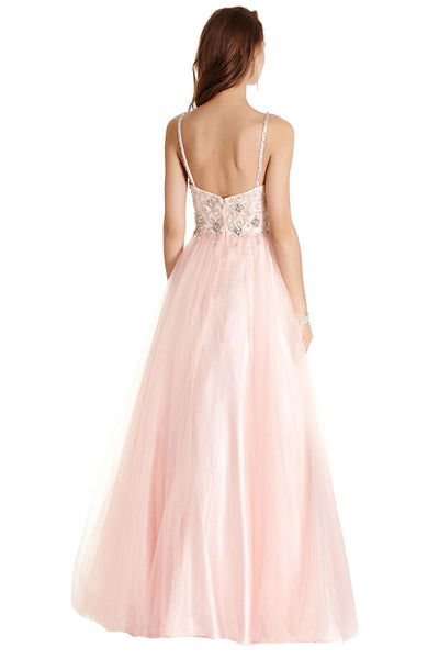 A-Line Formal Sleeveless Long Dress