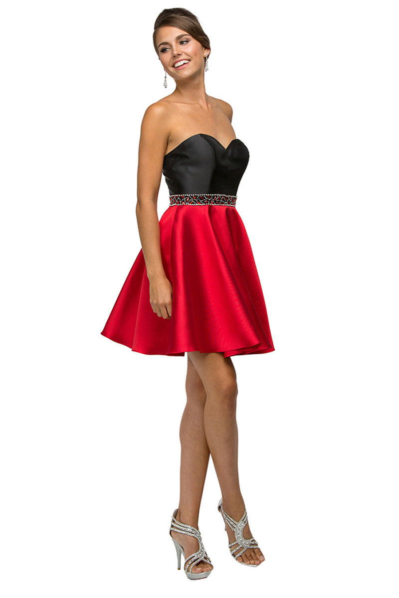 Backless & Strapless Short Party Dress