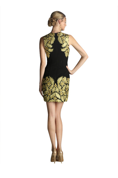 Black & Gold Formal Cocktail Dress