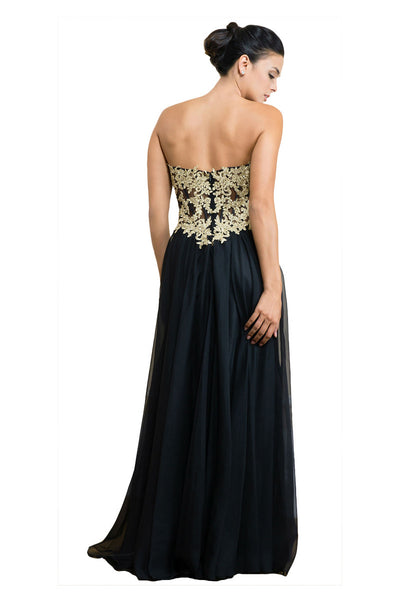 Black Long Formal Sweetheart Dress