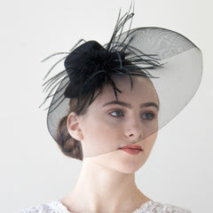 Black Mini Hat Women's Fascinator