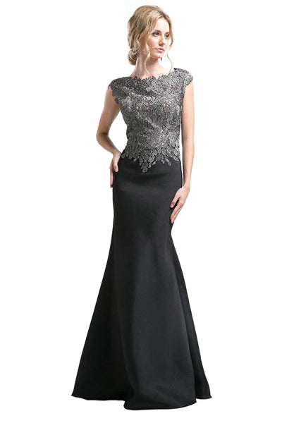 Black Trumpet Long Formal Dress