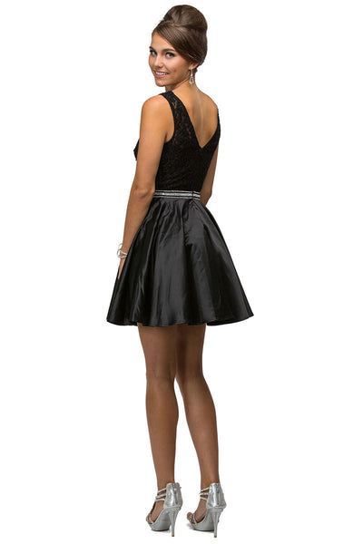 Fit & Flare Short Party Dress