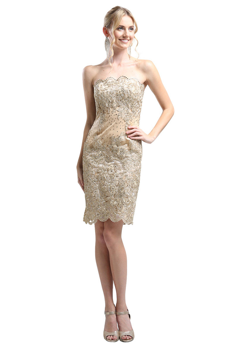 Formal Strapless Cocktail Dress
