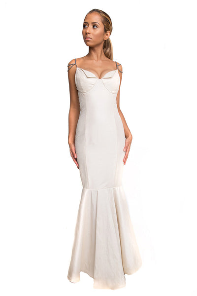 Ivory Long Formal Evening Dress