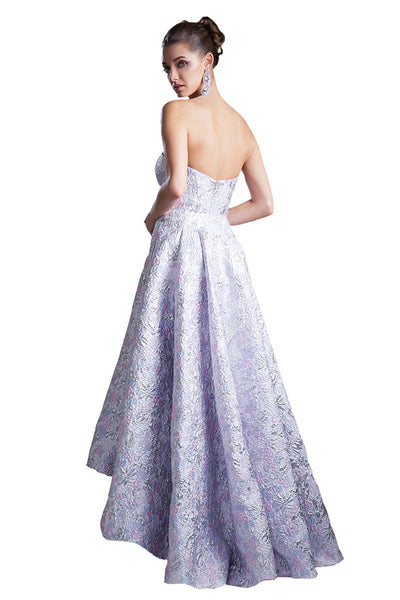Lilac High Low Formal Evening Dress