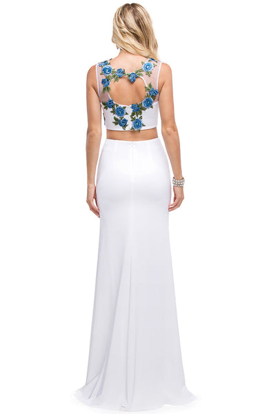 Long Two Piece Dress with Slit