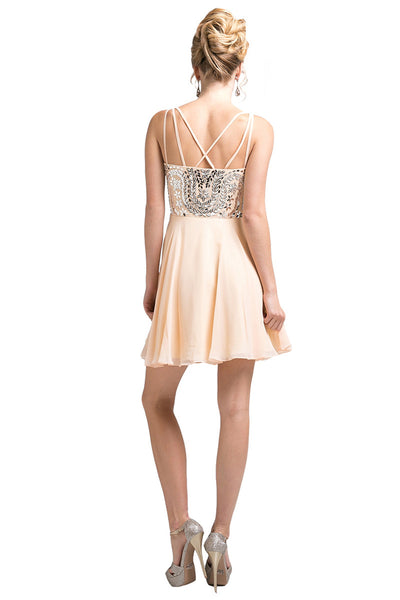 Peach Short Party Dress
