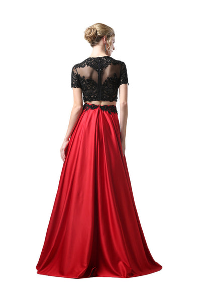 Red & Black Formal Ballgown Dress