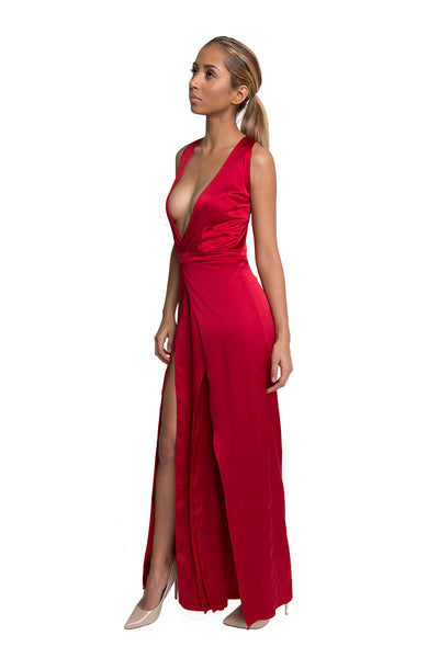 Red Dress Club Jumpsuit for Women