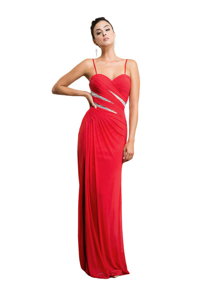 Red Formal Strapless Sweetheart Dress