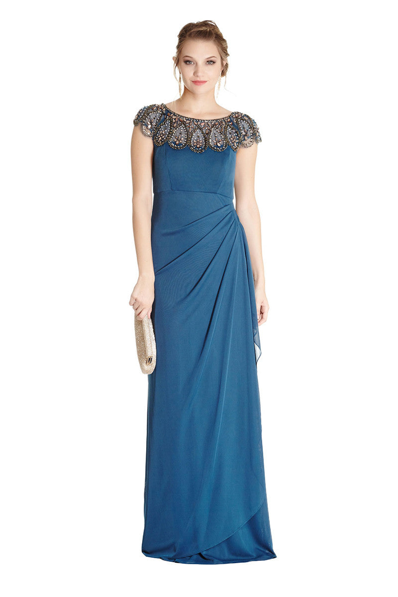 Ruched Formal Evening Gown – The Magic of Chic