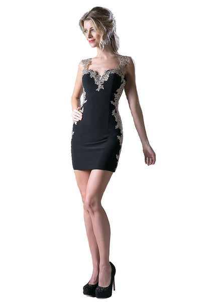 Short Black Coctail Party Dress