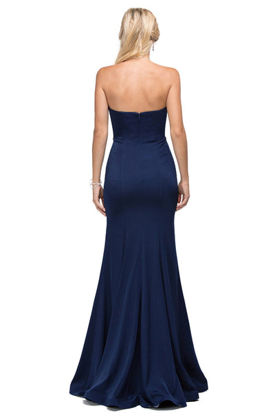 Sleeveless Strapless Jersey Evening Dress