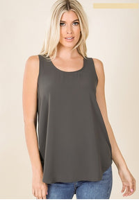 Everyday Dressy Tank Ash Gray