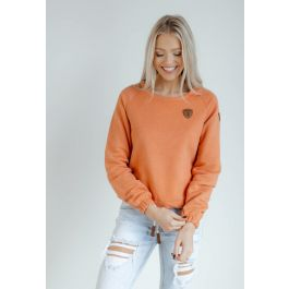 Simona Crop Pull over Warm Clay