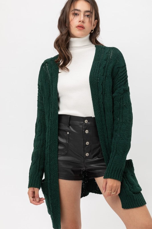 Cami Cardigan Hunter Green