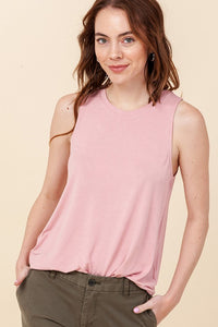 SLEEVELESS SWING TANK TOP DESERT ROSE