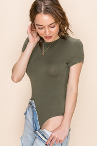 SHORT SLEEVE BODYSUIT - OLIVE