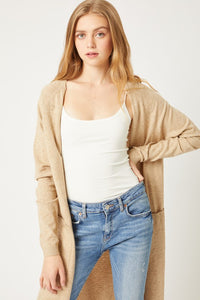 Oatmeal Long Spring Cardigan