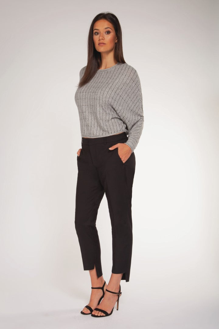 LONG DOLMAN SLV CROP TOP