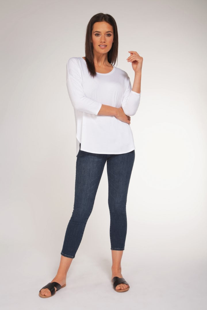 3/4 SLV SCOOP BASIC TOP