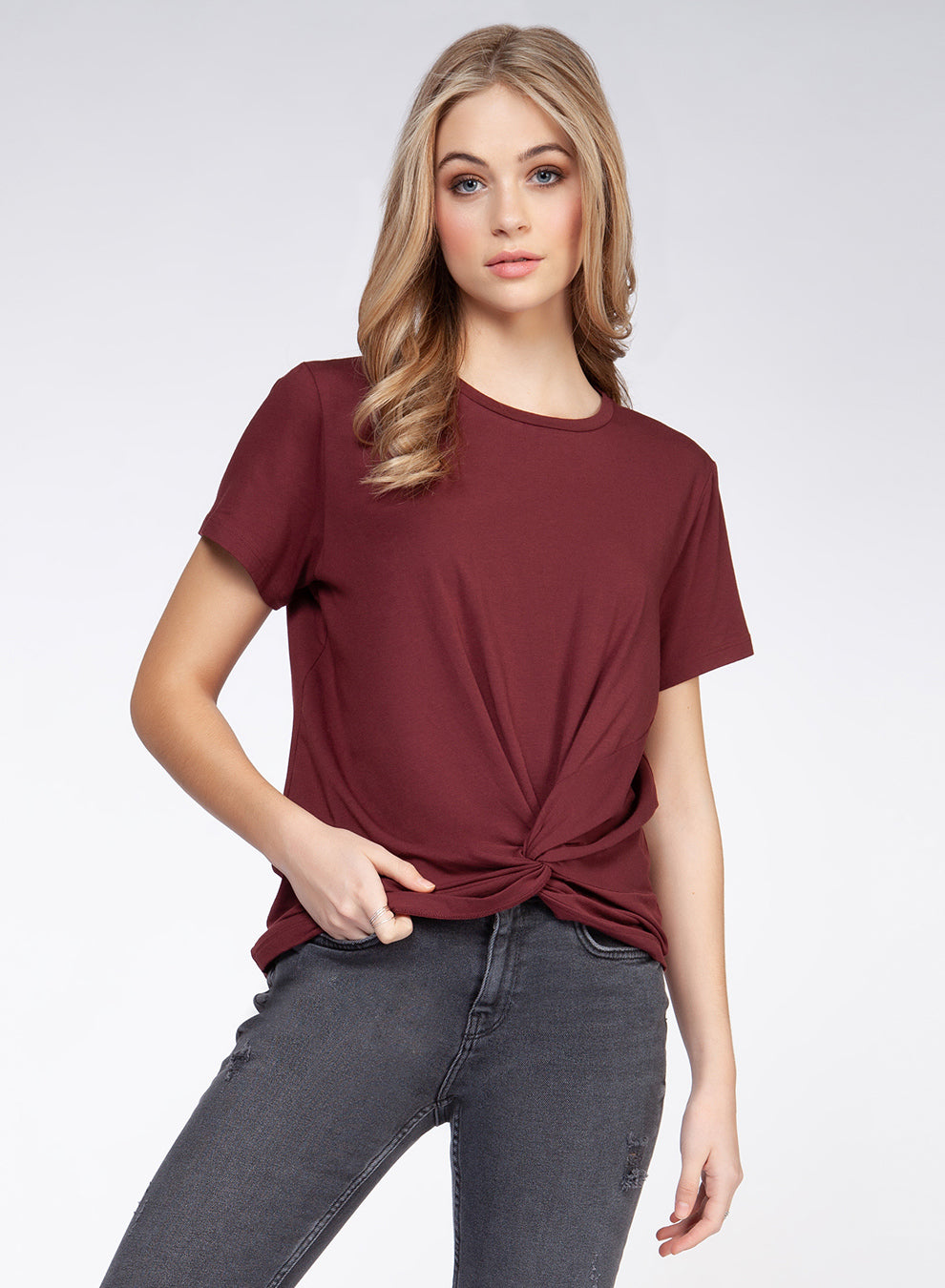 Short Sleeve Front Twist Tee