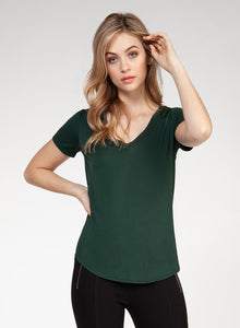 V-Neck T-Shirt Hunter Green