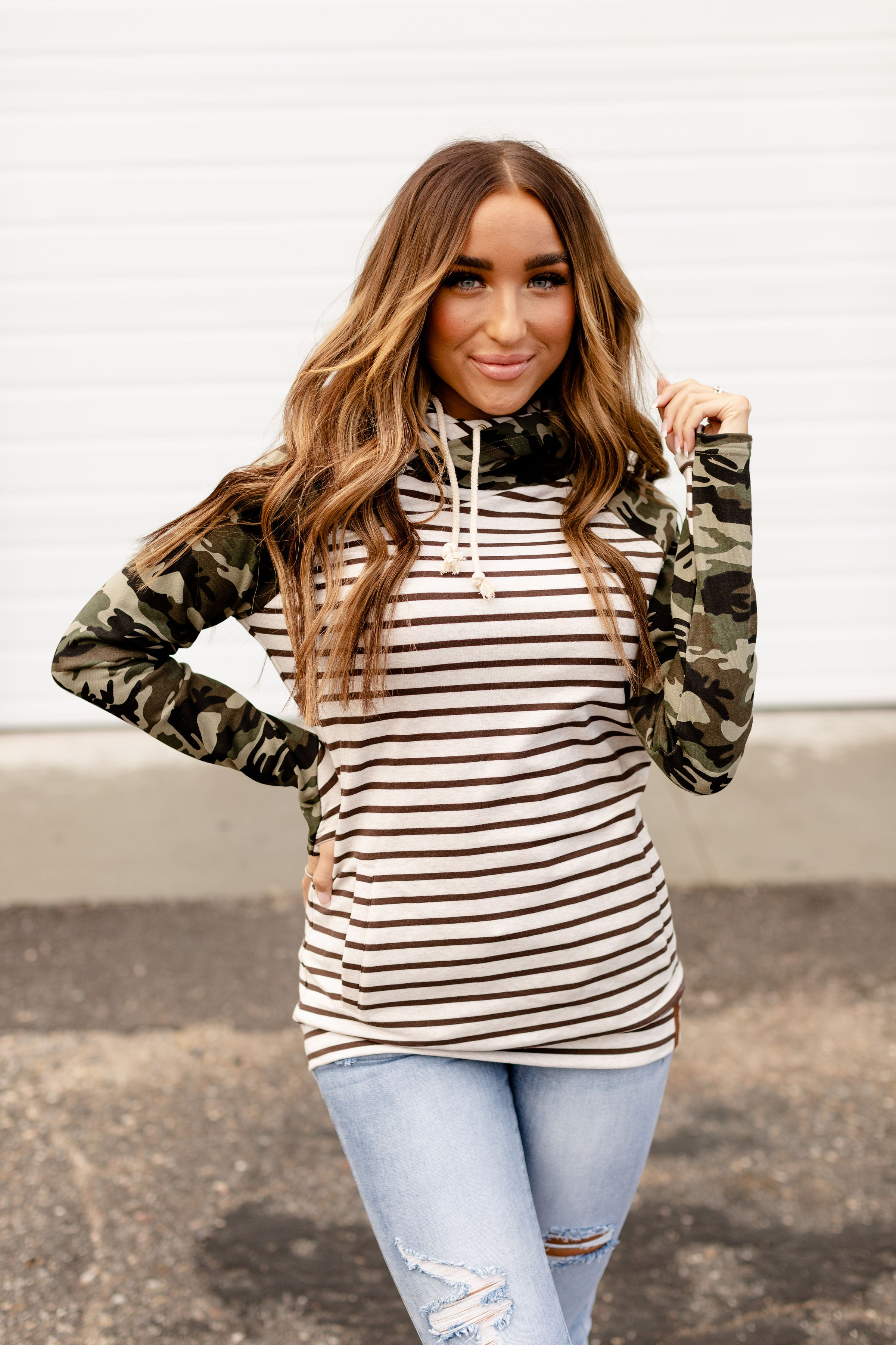 Double Hood Sweatshirt  Crazy about Camo