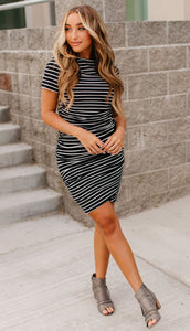 Better than Basics Dress Black stripe