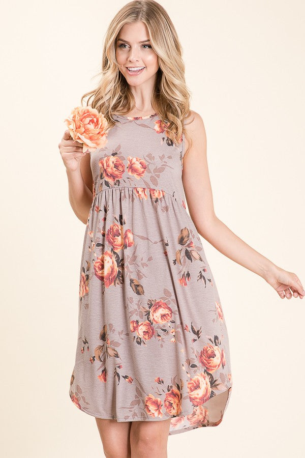 RELAXED FIT FLORAL DRESS
