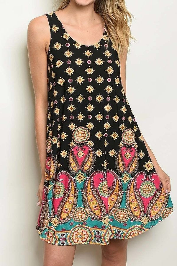 Floral Knit Paisley Dress