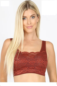 Everyday Lace Bralette Rust