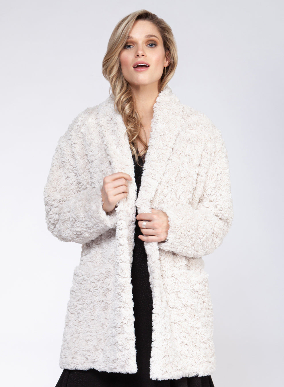 Long Sleeve Teddy Coat
