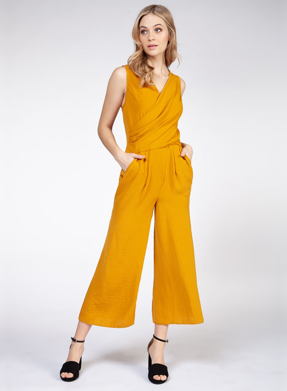 Sleeveless Wrap Jumpsuit Marigold