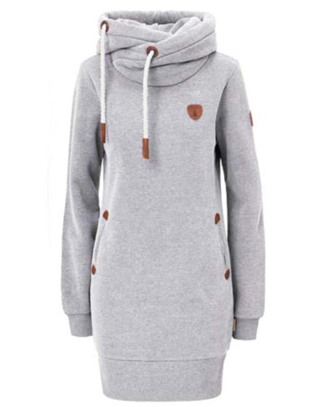 Juno Sweater Dress Light Heather Grey