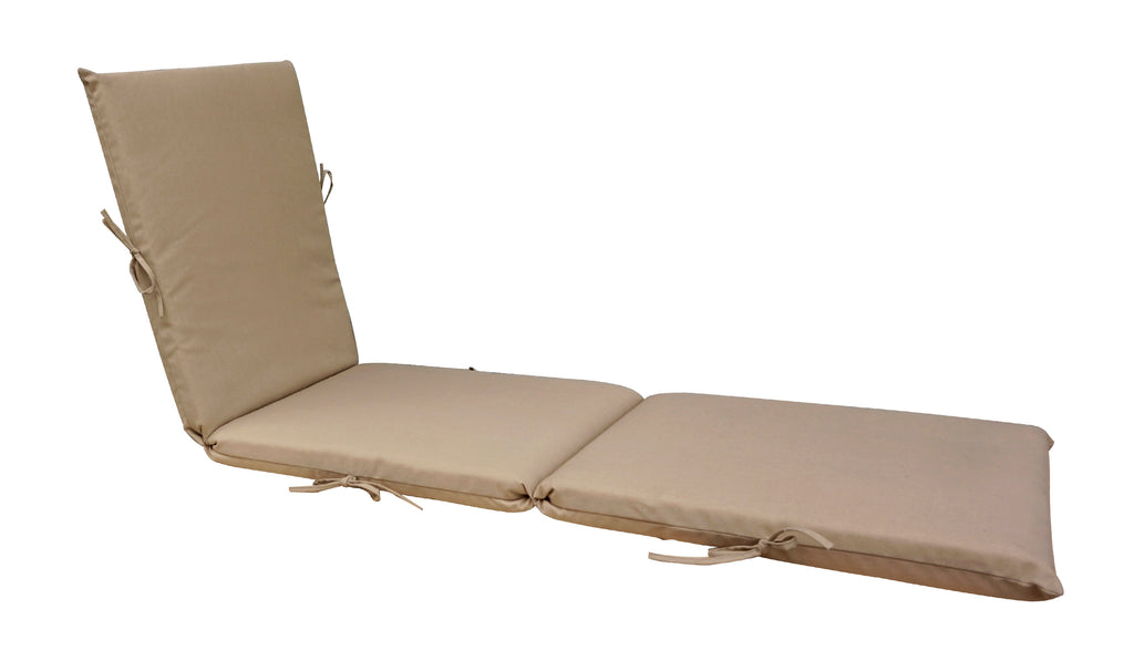 Light Khaki Chaise Lounge