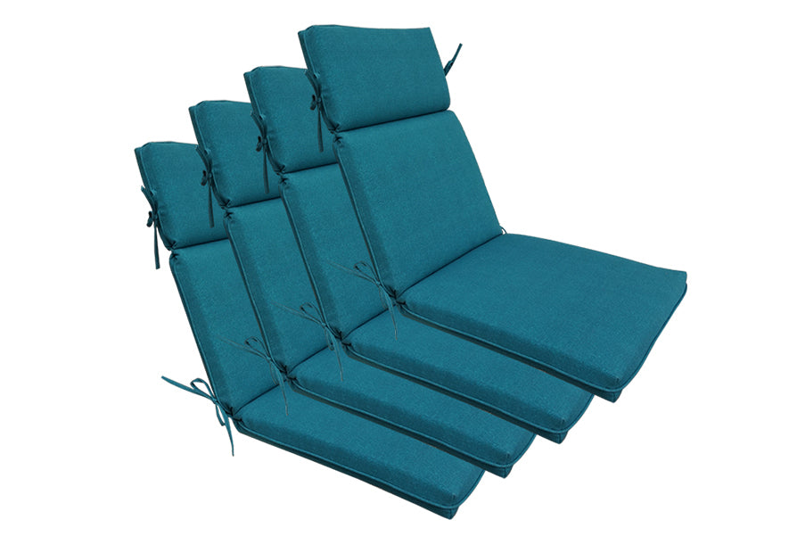 Teal Blue High Back Lounger (Set of 4)