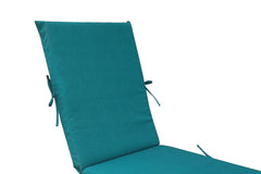 Teal Blue Chaise Lounge