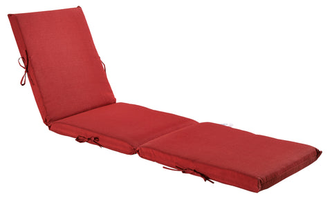 Rust Red Chaise Lounge