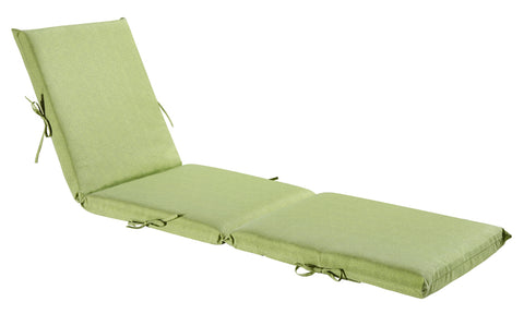 Green/Grey Piebald Chaise Lounge